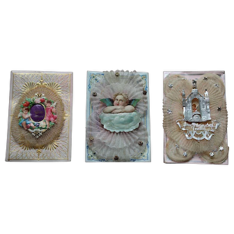 Three Decorative Christening Cards