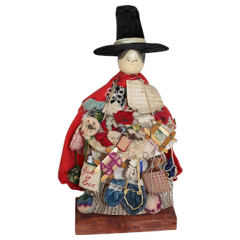 Wonderful Wooden Grodnertal, Peg Peddler Doll