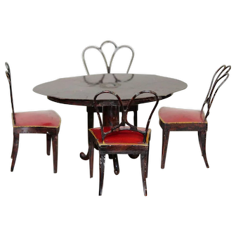Rock & Graner Oval Dining Table And Four Chairs