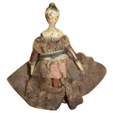 Gorgeous Tiny Tuck Comb Grodnertal Doll Fully Jointed
