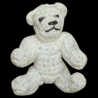 Miniature Carl Horn Hertwig Crocheted Teddy Bear