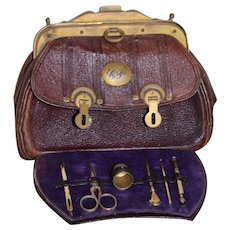Lovely Unusual Sewing Necessaire Travelling Bag
