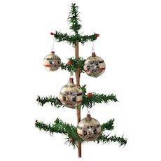 Rare German First World War 1914 Glass Christmas Ornaments
