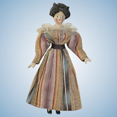 RESERVED     - Extremely Rare Grodnertal Doll With Rare Hairstyle, circa 1825/1830