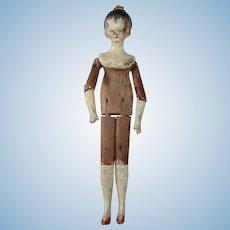 Lovely Grodnertal Tuck Comb Doll, 8 1/2 ins. Tall