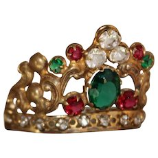 A Wonderful Tiny French 19th Century Crown For Your Doll or Religious Statue