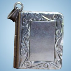 Sterling Silver Miniature Fob Book For Chatelaine