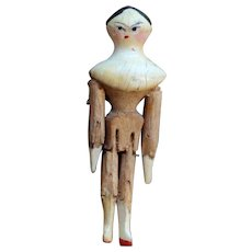 Tiny Grodnertal Doll in Decorative Box
