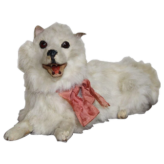 Fabulous Antique French Salon Dog For Your Fashion Doll