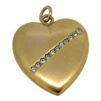 Victorian Heart & Paste Locket  - Gold Fill- Lovely!