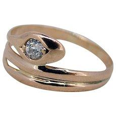 Victorian Snake Ring - Diamond Head