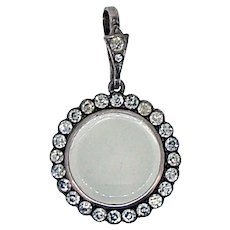 French Paste Locket / Victorian French Paste 935 Silver - Ca 1890-1920