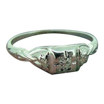 Vintage Deco Diamond Ring Jabel / 18k  Promise, Engagement! A Present!