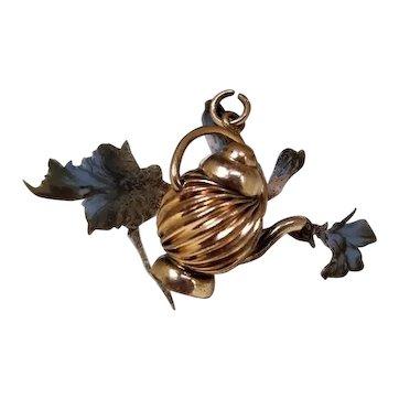 Victorian Tea Pot Watch Fob / Teapot Fob Gold Filled