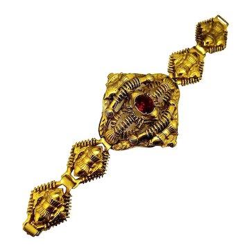 Egyptian Revival Bracelet - Large!  / Gold Filled 1920's 55 Grams