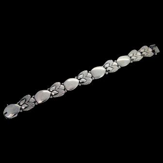 Georg Jensen Bittersweet Pinje Sterling Silver Link Bracelet