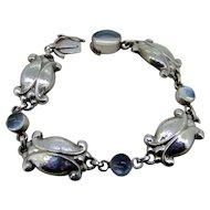 Georg Jensen Moonlight Blossom Moonstone Sterling Bracelet
