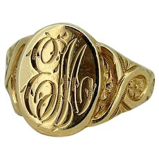 Vintage 14kt Signet Ring - Early 20th Century