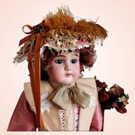 "Steiner E U St 20"" Bisque Shoulder Head Doll No Damage Bisque Kid Body Sleep Eyes"
