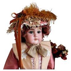 """Steiner E U St 20"""" Bisque Shoulder Head Doll No Damage Bisque Kid Body Sleep Eyes"""