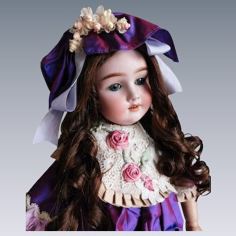 "Heinrich Handwerck Adolf Wislizenus 24"" DOLL Markings: Special 65 Bisque Doll Blue Sleep Eyes BJ Comp/Wood Body Gorgeous Full Human Hair Wig"