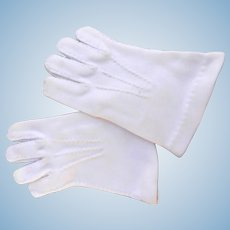 Vintage Gloves for Doll or Child Off White Good Condition Hand Stitching Accent(s)
