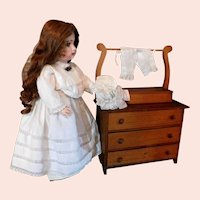 Vintage Doll Furniture Wash Stand Wood