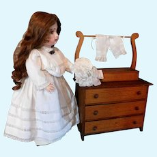 Vintage Doll Furniture Wash Stand Wood