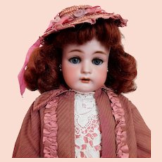 """Simon & Halbig K*R 20 1/2"""" Doll Mohair Vintage Outfit / Hat Leather Shoes Redhead BEAUTY"""