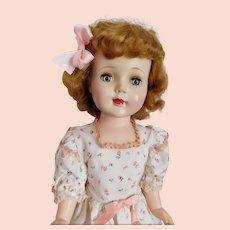 American Character Doll Sweet Sue 1950's Doll Original Dress, Socks & Shoes Nice Golden Blonde Hair PRETTY