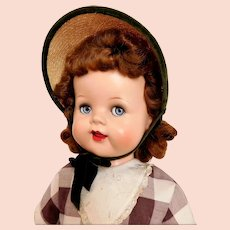 "Ideal 1950's Saucy Walker 22"" Flirty, Sleep Blue Eyes Redhead"