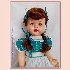 "Ideal Saucy Walker 22"" Flirty, Sleep Olive Green Eyes Clean Auburn/Red"
