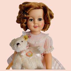 """Vintage 1957 Shirley Temple Doll 17"""" by Ideal Original Dress NICE"""