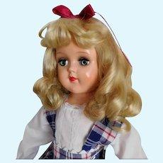 "Ideal 21"" Toni P-93 Doll Hard Plastic Walker Beautiful Hair EXCELLENT~"