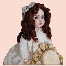 "Vintage Mohair Wig AUBURN Full Curly Long 11"" - 12"""