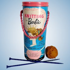 Vintage BARBIE Knitting for Barbie Kit No. 8015 GREAT GRAPHICS for Display / Collection