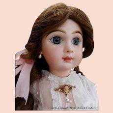 Vintage Doll Imitation Cameo Pin & Imitation Drop Pearl Earrings For Jumeau Bru 2 Piece Set
