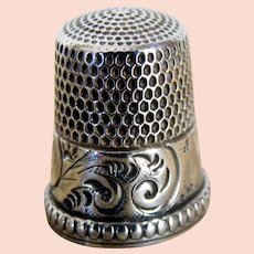 Victorian Sterling Silver Thimble Intricate Design