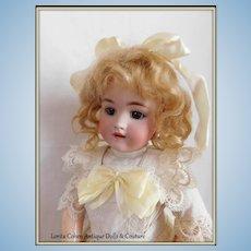 "Heinrich Handwerck Simon & Halbig 20"" / 2 1/4 Bisque Doll TENDER SWEET FACE Mohair Wig"
