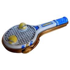 Limoges France Tennis Racket Vintage Estate Hinged Racket Closure CUTE