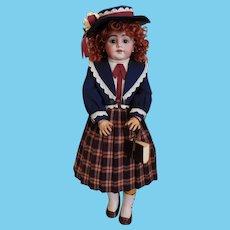 "S 11 H 1009 DEP Doll Simon & Halbig Germany Custom Designed 5 Piece Attire! 23 1/2"" Tall"