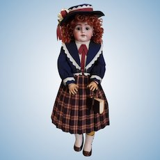 "S 11 H 1009 DEP Doll Simon & Halbig Germany Custom Designed 5 Piece Attire! 23 1/2"" Tall"