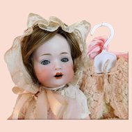 "Bahr & Proschild Baby 13"" SMALL Doll BEAUTY Baby Blue Eyes Dressed Vintage 7 Piece Wardrobe w/ Hanger CB & C. Germany 20-5"