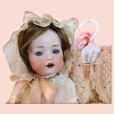 "Bahr & Proschild Baby 13"" SMALL Doll BEAUTY Baby Blue Eyes Dressed Vintage 7 Piece Wardrobe w/ Hanger CB & C. Germany 20-5"