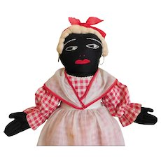 Black Mammy Rag Doll Vintage / Fine Condition