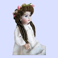 "Vintage Doll Wig Auburn Size 10"" Light Brown"