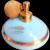 Vintage DeVilbiss Perfume Bottle S-500 87 ROBIN'S EGG BLUE Original Paper Label CIRCA 1956 / 22KT
