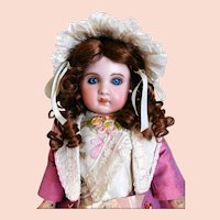 """Jumeau No. 6 Doll Medaille D'or Paris Small Doll French 16"""" Tall Small Doll"""