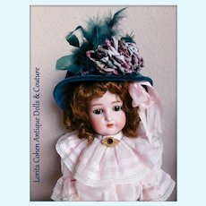 "Simon Halbig K * R 58 Stands 23"" Tall Auburn Hair Beauty"