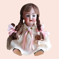 "Simon & Halbig K * R 126 GERMANY 26 Baby Doll So Sweet!  FRENCH Human Hair 10 1/4"" Tall"